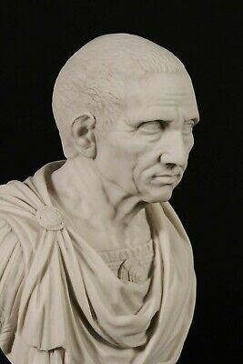 Roman Senator Brutus. Assasin of Julius Caesar,Marble Bust Classical Sculpture.