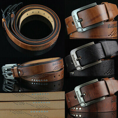 Classic Men's Leather Belt Casual Pin Buckle Waist Belt Waistband Belts Strap.