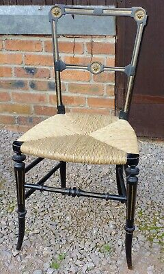 Aesthetic Movement, Victorian rush seated chair