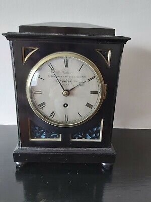 Antique wooden mantle clock by John Walker of London