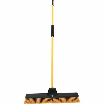 24'' Heavy Duty Yard Brush Outdoor Warehouse Bulldozer Broom Sweeping Stif Metal