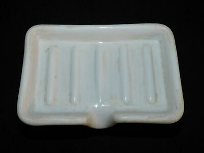 Old Vintage White Porcelain Sink Mount Soap Dish With Spout #2