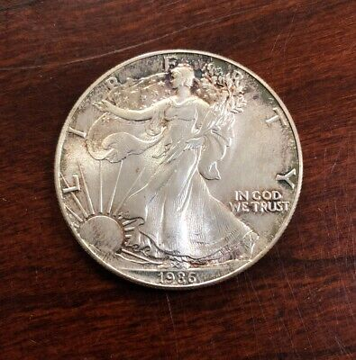 1986 $1 American Silver Eagle 1 Oz .999 Silver First Year Coin