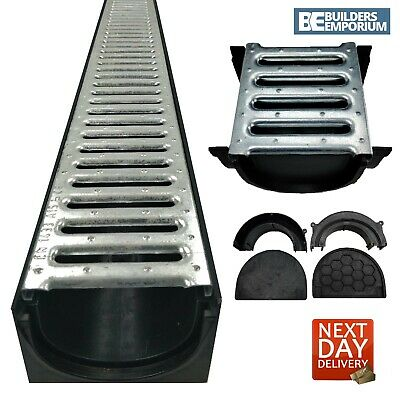 Channel Drainage HEAVY DUTY STEEL Muffel 4All 100x70 (1.5t) GALVANISED Grating