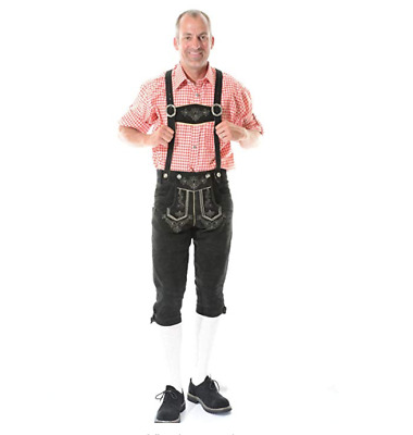 "GAUDI  Leather Suede Lederhosen Gents Mens Oktoberfest Fancy Dress 40"" Waist"