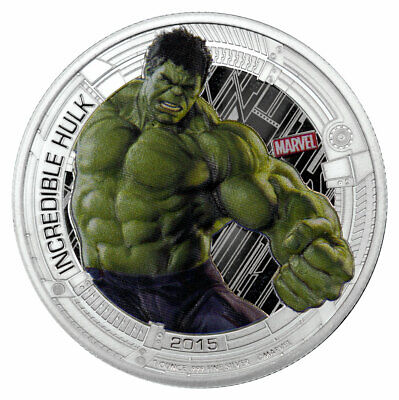 2015 Niue Marvel Avengers Age of Ultron Hulk 1 oz Silver Proof $2 SKU37782
