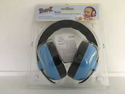 Baby Toddlers Childrens Banz Mini Earmuffs Hearing Protection Ear Defenders Blue