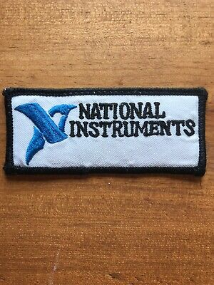 """Vtg National Instruments 4"""" Sew On Embroidered Patch Badge Engineering"""