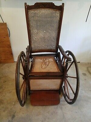 1878 Invalid rolling Chair no 24 ( Newhaven Folding Chair Co) EXTREEMLY RARE
