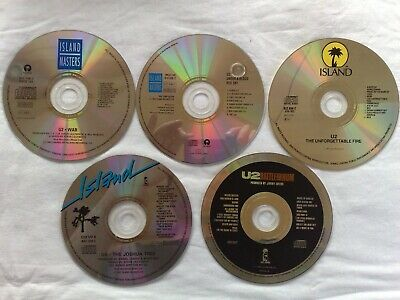 5x CDs - U2 - *DISCS ONLY* War, Unforgettable Fire, Joshua Tree, Rattle & Hum +