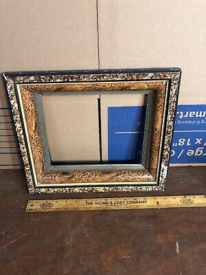 """Vintage Antique Victorian Shadow box Picture Frame Fits 8"""" by 10"""" Painting"""