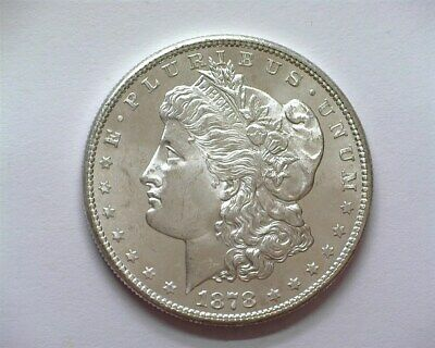 1878-S Morgan Silver Dollar  Gem+ Uncirculated Proof Like Scarce This Nice