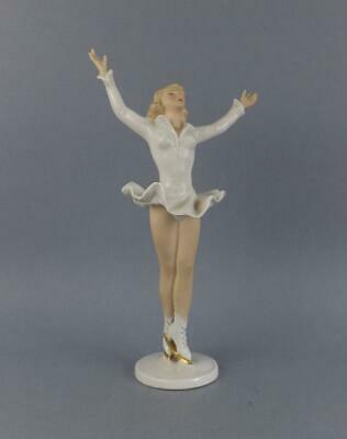 Antique Porcelain German Art Deco Figurine of Ice Skater by Wallendorf