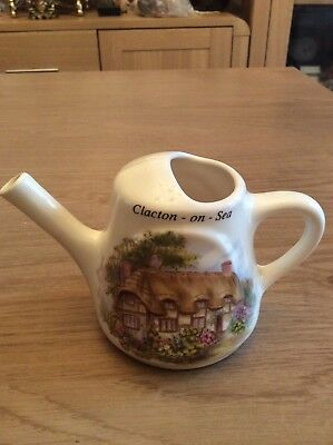 Vintage Greenfield Pottery Clacton - On - Sea Watering Can Ornament