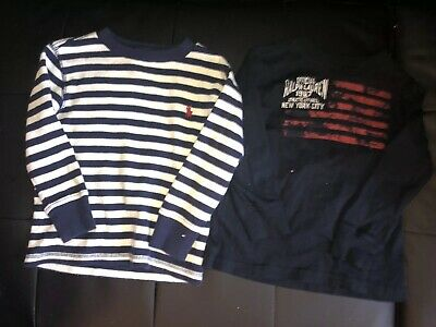 Lot Of 2 Ralph Lauren Polo Toddler Boys Unisex Size 2T Long Sleeve Tee Shirt