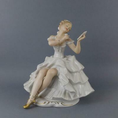 Antique Large Porcelain German Art Deco Figurine of Ballerina by Wallendorf