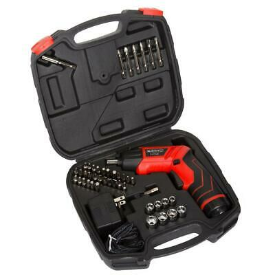 Stalwart LED Rechargeable Pivoting Cordless Screwdriver Set (45-Piece)