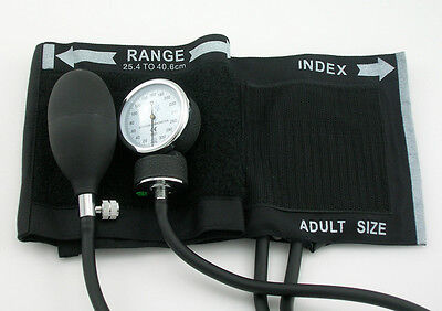 US Seller NEW BLACK Sphygmomanometer adult blood pressure COTTON cuff and case