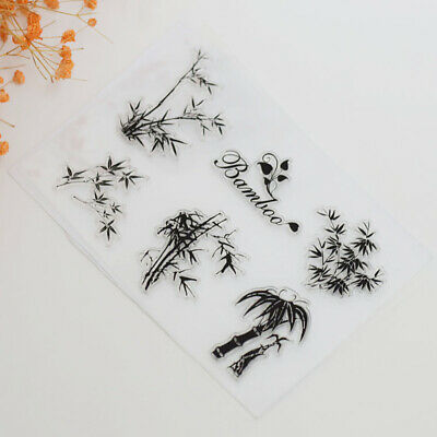 Bamboo Clear Silicone Stamp Transparent Rubber Stamps Cling DIY Scrapbook Card