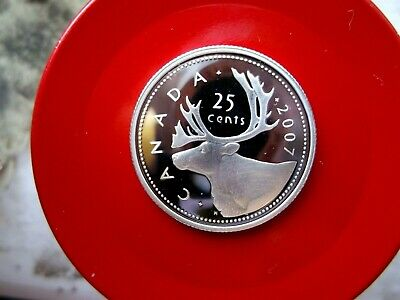 2007 Canada 25 Cent Sterling Silver Proof Quarter