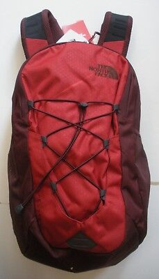 The North Face  Jester Backpack- Laptop Sleeve-A3Kv7- Caldera Red /sequoia Red