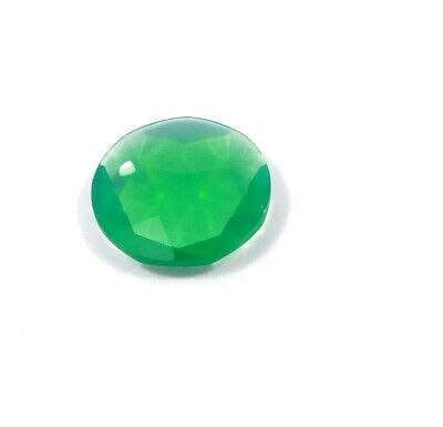 29 Cts. Natural Faceted Green Chalcedony Cut Gemstone AAK1368