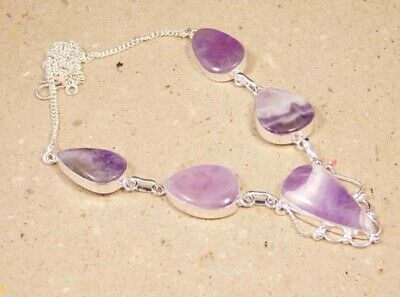 Amethyst Lace .925 Silver Plated Handmade Necklace Jewelry JC2315