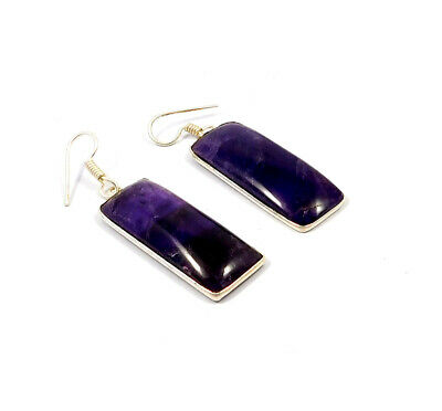Sodalite .925 Silver Plated Handmade Earring Jewelry JC9153