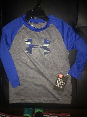 New With Tags Under Armour Toddler Boy Infant Long Sleeve Tee Shirt Size 2T