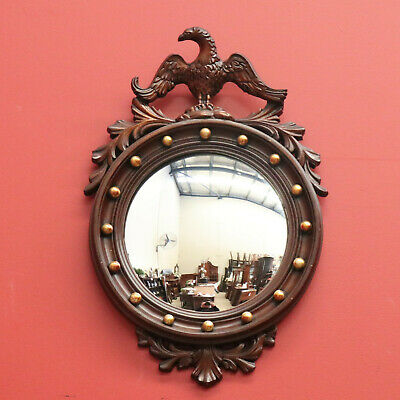 Vintage Convex Eagle Wall Mirror with Gilt Gold Detail, Hall, Foyer Mirror