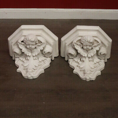 Antique French Cherub Wall Hanging Wall Brackets, Wall Sconces, Statue Holders