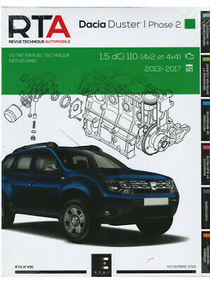 REVUE TECHNIQUE DACIA DUSTER BREAK I Phase 2 (2013-17) - RTA 831 / 9791028306281