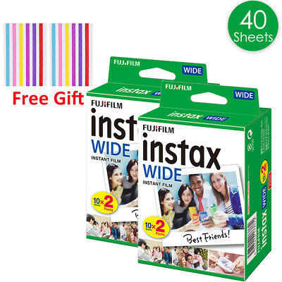 FujiFilm Instax Wide Film 40 Sheets Fuji 200 210 300 Instant Photos AU