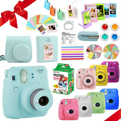 Fujifilm Instax Mini 9 Camera + 20 Sheets Film + Case + Album w/ 10-In-1 Bundle
