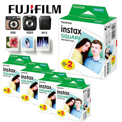 Fujifilm Instax SQUARE Film Sheets White For Fuji SQ10 Instant Hybrid Camera SQ6