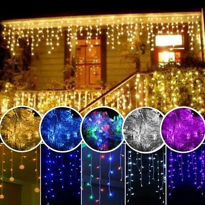 LED Icicle Snow Falling Outdoor String Lights Fairy Curtain Wedding XMAS Party
