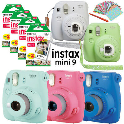 Fujifilm Instax Mini 9 Camera + Instant Polaroid Mini 8 Film Sheets + Gift