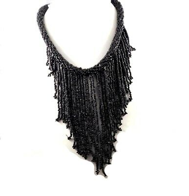 A++ Beautiful Vintage Style Black Onyx Beads Thread Necklaces Jewelry W11 (20)