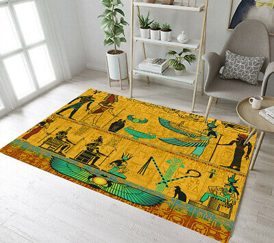 Legend of Ancient Egyptian Pharaoh Yoga Carpet Floor Rug Mat Bedroom Area Rugs