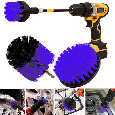 4 Pcs Scrubber Cleaning Drill Brush Extended Long Attachment Set For Bathroom