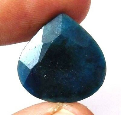 Dyed Faceted Blue Sapphire Gemstone 10 ct 23x10mm AQ545