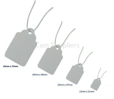 White Strung Price Tag Tags Swing Tickets Tie On Labels