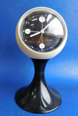 Funky 1970s West German SUSSEX Pod style Footed Analogue Alarm Clock