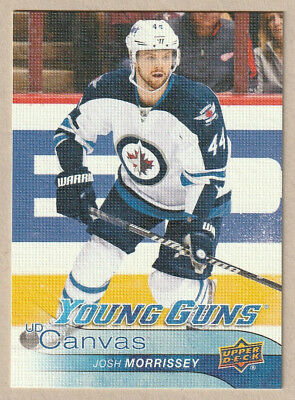 2016-17 Upper Deck UD Canvas Young Guns #C231 Josh Morrisey RC Winnipeg Jets