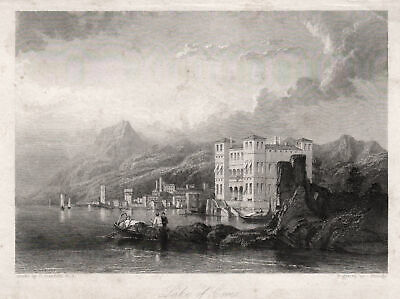 COMER SEE Lombardia COMER SEE Original Stahlstich Grundy 1840
