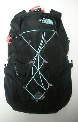 The North Face Womens Borealis Backpack- Daypack- A3Jv4- Tnf Black/ Mint Blue