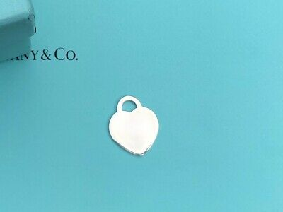 Tiffany & Co Sterling Silver Blank Engraveable  2001 Heart Tag Pendant Charm