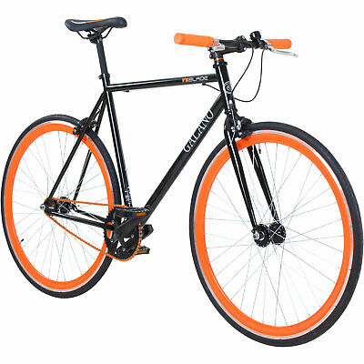Singlespeed Fixie 700C 28 Pouces Galano Lame Vélo Noir / Orange 56 cm B-Ware