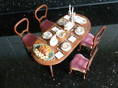 Victorian style dolls house dining room suite