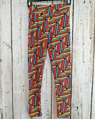 MGP Junior's Tween LuLaRoe Multicolor Geometric Yoga Pants Full Length Leggings